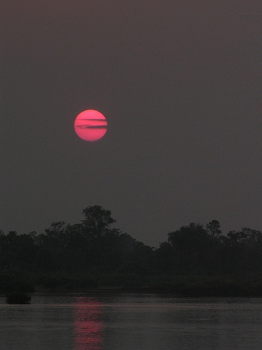Red Sun, Si Phan Don (Four Thousand Islands), Laos