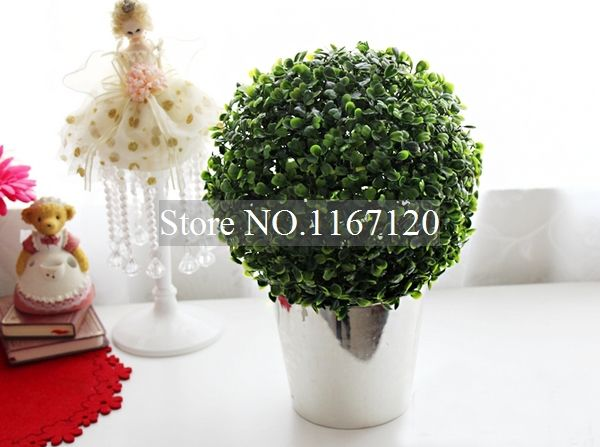 Artificial Plant Topiary Ball Tree Plant Home Outdoor Wedding Event Decoration 28cm(HC04)
