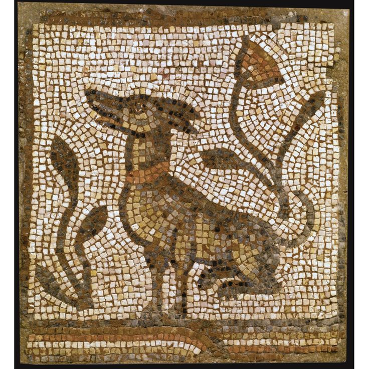 A BYZANTINE MOSAIC PANEL WITH SEATED DOG, CIRCA 5TH/6TH CENTURY A.D.