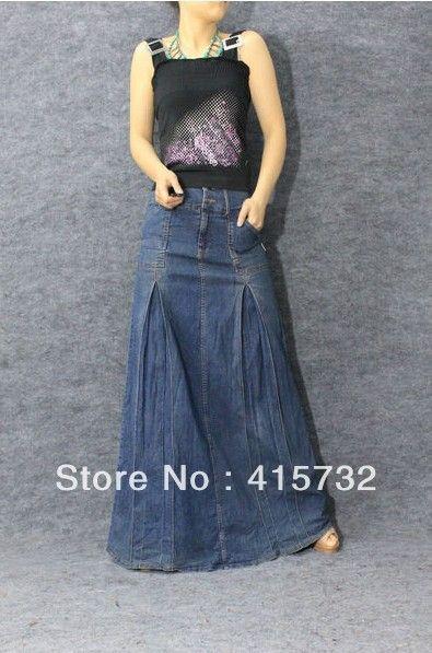 mermaid denim skirts long | ... Waist Jeans Skirt Denim Bust Skirt For Women Slim Maxi Mermaid Skirt