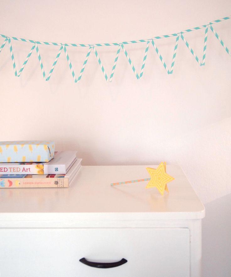 Maak zelf een slinger van (papieren)rietjes!  Met stap voor stap uitleg. | ©Papiergoed