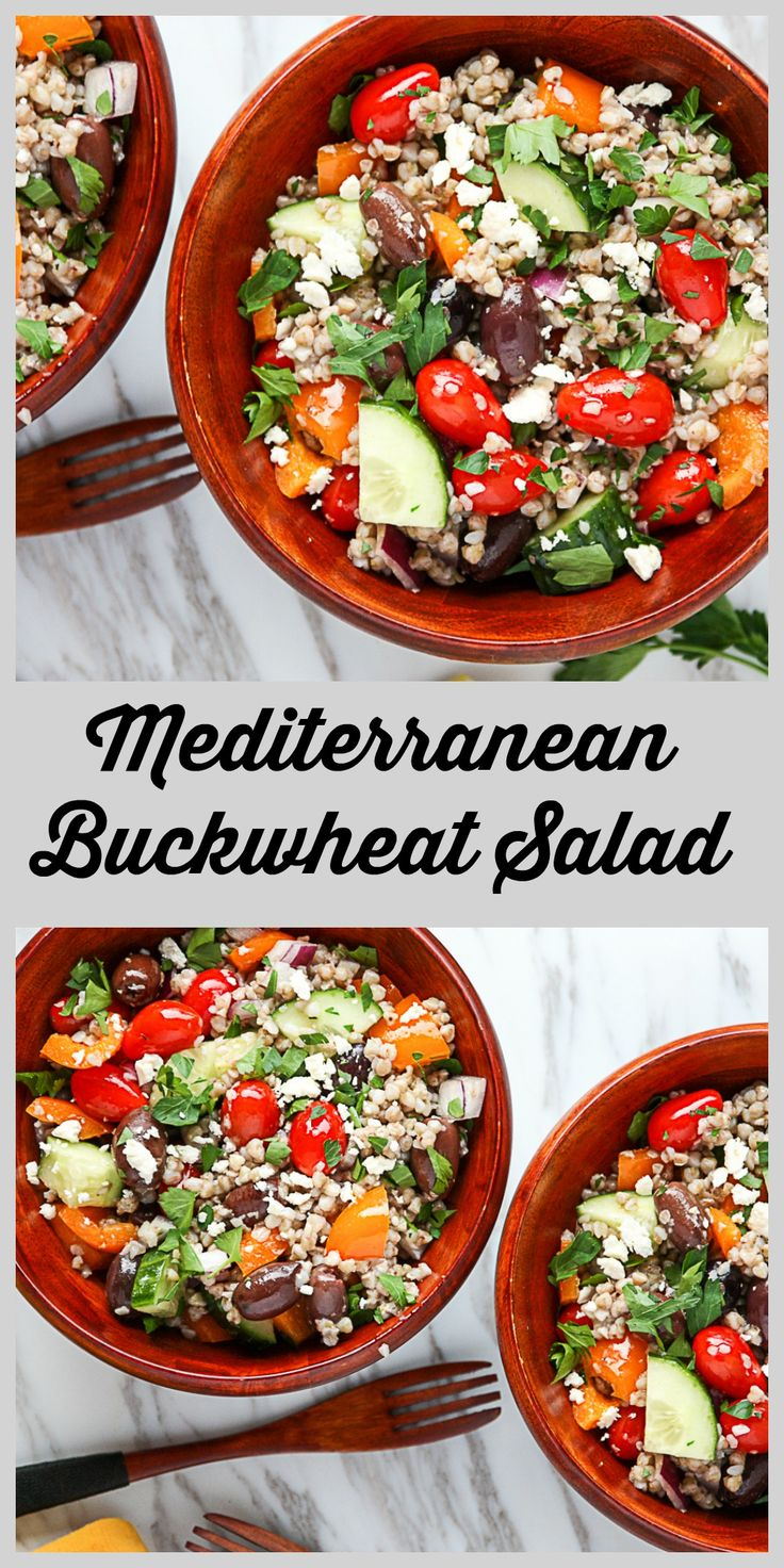 Mediterranean Buckwheat Salad is hearty, protein packed, fibre rich and delicious. Buckwheat is a super food that is as easy and quick cooking as rice, but packs a much higher nutrient punch. Get your grains in, and check out this recipe, and other super grains