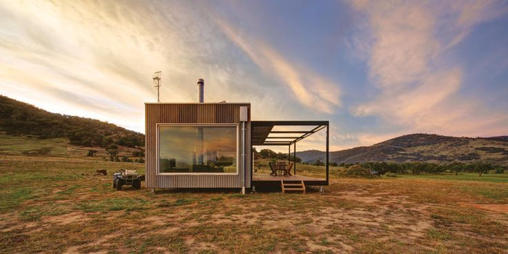 Take A Peek At The World's Coolest Cabins - Prefabricated cabin with solar panels, as well as septic and rainwater tanks, in Tintaldra, Australia.