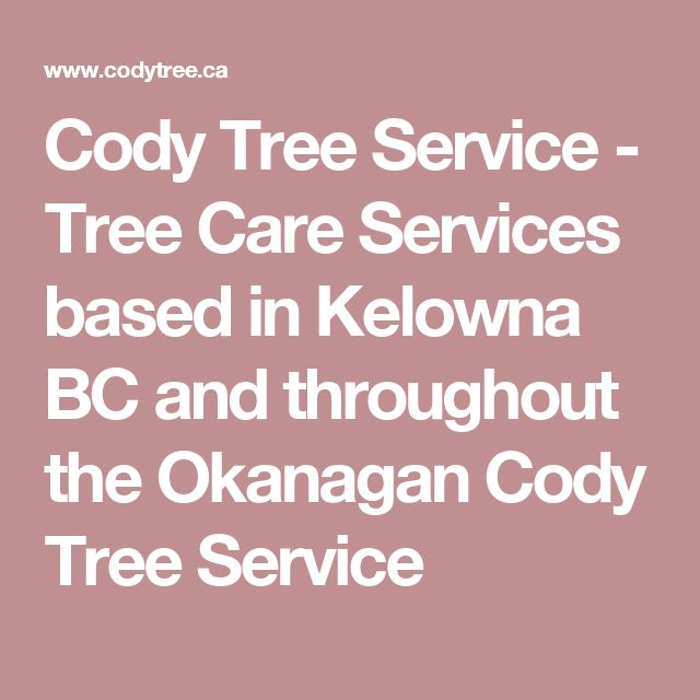 Cody Tree Service - Tree Care Services based in Kelowna BC and throughout the Okanagan Cody Tree Service