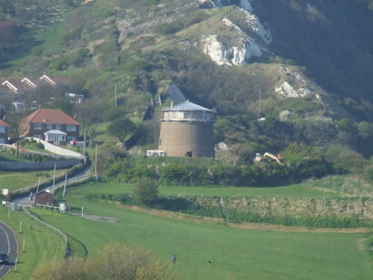 Folkestone - Martello Tower No1 - You can almost the spot where the Warren Inn would have been on the far bottom right.