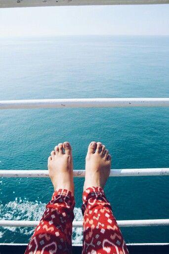 May 7th 2016 : on Sunda strait by ferry.