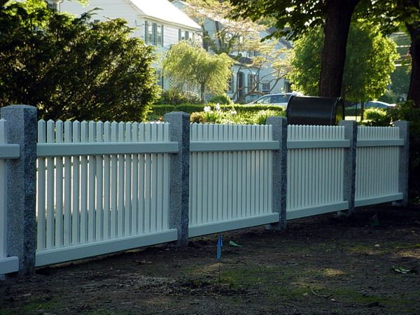 Granite Post U0026 Picket Fence New England Woodworkers, Custom Fence Company  For Picket Fences,