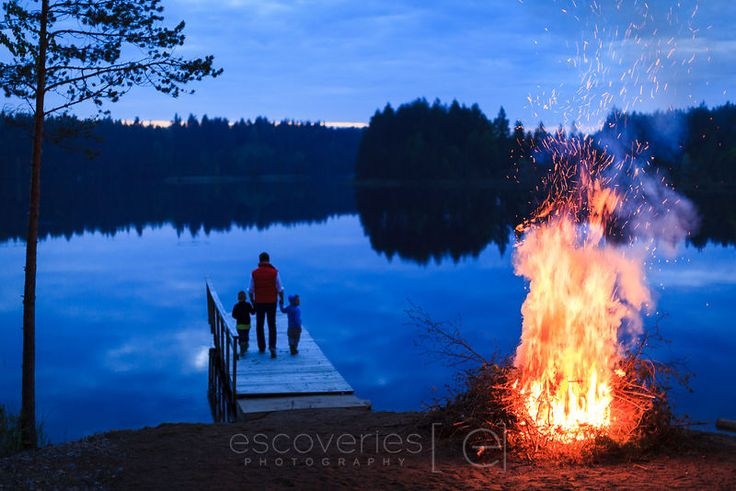 Midsummer. The endless night in Finland.
