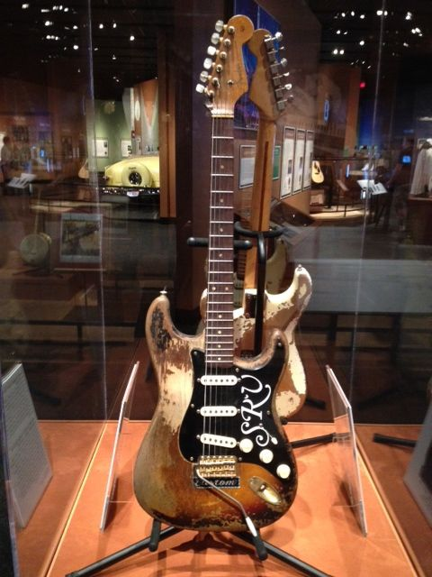 "Stevie Ray Vaughan's ""Number One"" Stratocaster is among the items on display through October 14th at the Bob Bullock Texas State History Museum in Austin. The guitar, pictured below, is an exclusive for the museum. You can find more information about the ""Texas Music Roadtrip"" exhibit at TheStoryOfTexas.com and read more at KVUE.com."