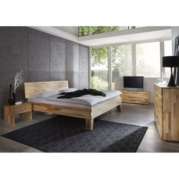 Massivholzbett design  28 best Massivholzbett images on Pinterest | Bedroom, Bedroom ...