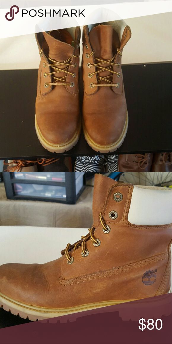 Timberland leather white boot UK 6.5 EU 39.5 Timberland Shoes Combat & Moto Boots