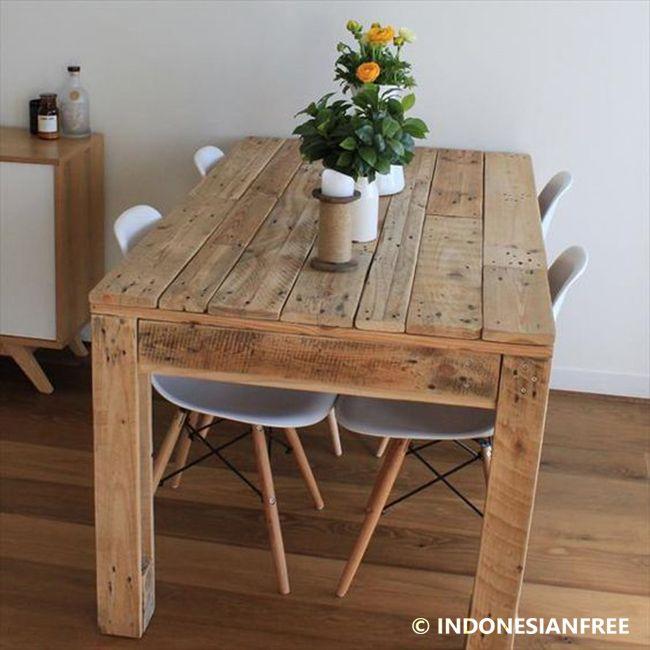 Cara Membuat Meja Dari Kayu Palet Bera Rustic