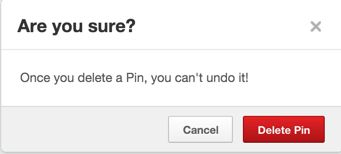 Updated: How to delete a Pinterest pin photograph before you get into trouble with a friend or colleague!