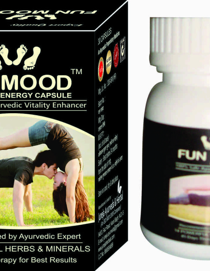 FUN MOOD Capsule is the herbal blend whose ingredients cumulatively supports in overcoming issues of infertility through working on all organs which are related to fertility. The Capsules contains herbal ingredients that help in increasing number of Semens as well as semen volume and density.