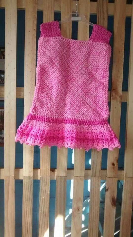 Vestido telar + crochet