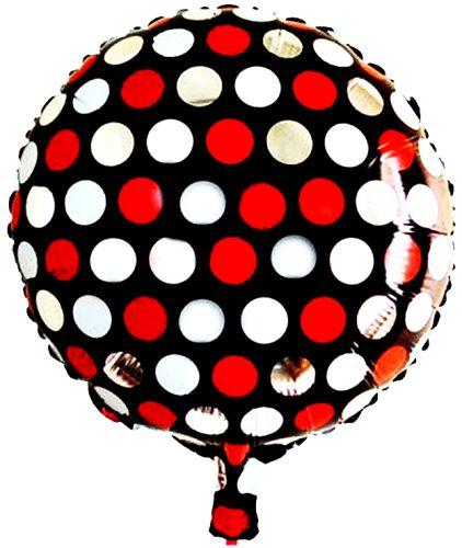 Puanlı Folyo Balon, Pembe/Siyah