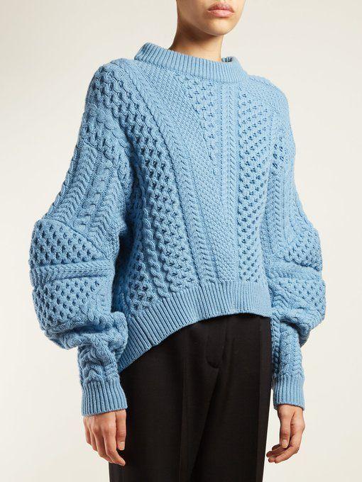 2c920f1eb6 Stella McCartney Cable-knit cropped sweater