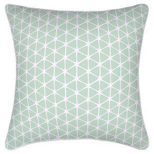 Mint & White Cushion Cover