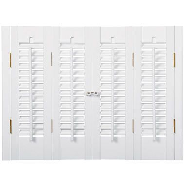 jcpenney.com | JCPenney Home™ Faux-Wood Traditional Shutters – 4 Panels