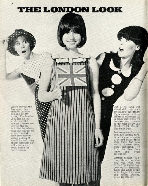 ladiesofthe60s: Swinging London fashions in Rave magazine, 1966.