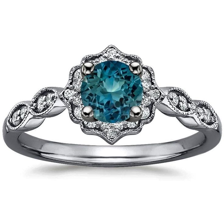 Best 25 Teal engagement ring ideas on Pinterest