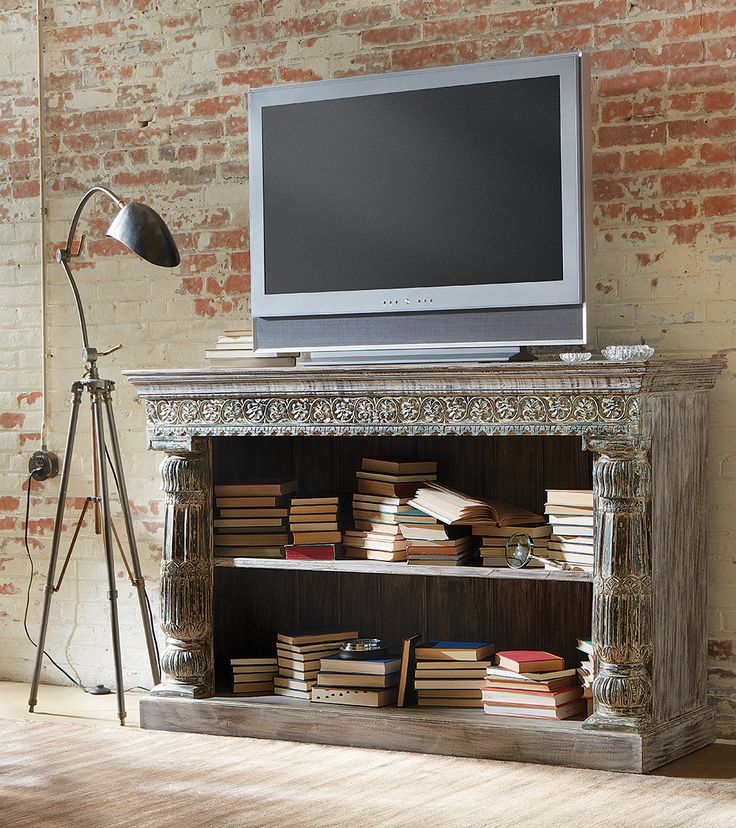 The Bali Media Console is inspired by India's brightly colored culture and antiques. Benchmade by Indian artisans out of solid Mango wood, this piece should be celebrated for its uniqueness and beauty.: