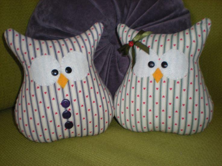 Cuco y Cuca - fabric owl