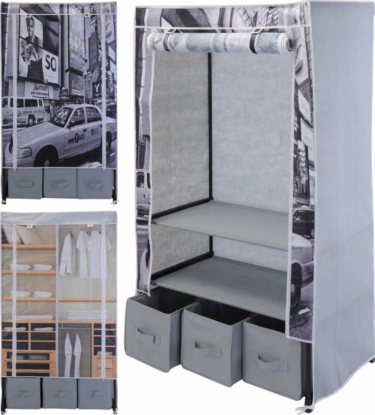 Opvouwbare garderobekast van het bekende merk 'Storage Solutions' om al uw kleding netjes op te bergen. Ideaal voor thuis, op een studentenkamer en voor op vakantie. Deze vouwkast neemt opgevouwen haast geen ruimte in waardoor deze makkelijk mee gaat in u