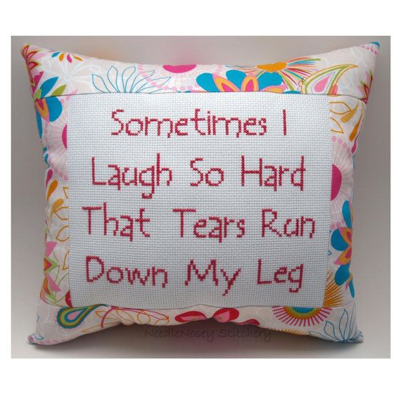 Haven't laughed like this in awhile ... miss it!   Funny Cross Stitch Pillow  by NeedleNosey