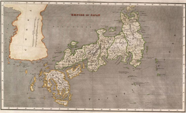 "Asian Maps Collection :: Empire of Japan :: 	Relief shown with hachures.; Prime meridian: Greenwich.; ""H.S. Tanner [sp?], sc.""; Imprint pencilled on map verso.; Hand-colored steel engraving, printed on wove paper.; Sea of Korea referred to as ""Sea of Corea."""