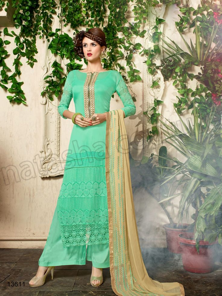 #Designer Stright Suits#Pakistani Suit#Indian Wear#Sea Green #Desi Fashion #Natasha Couture#Indian Ethnic Wear# Salwar Kameez#Indian Suit#Pakastani Suits# Palazoo