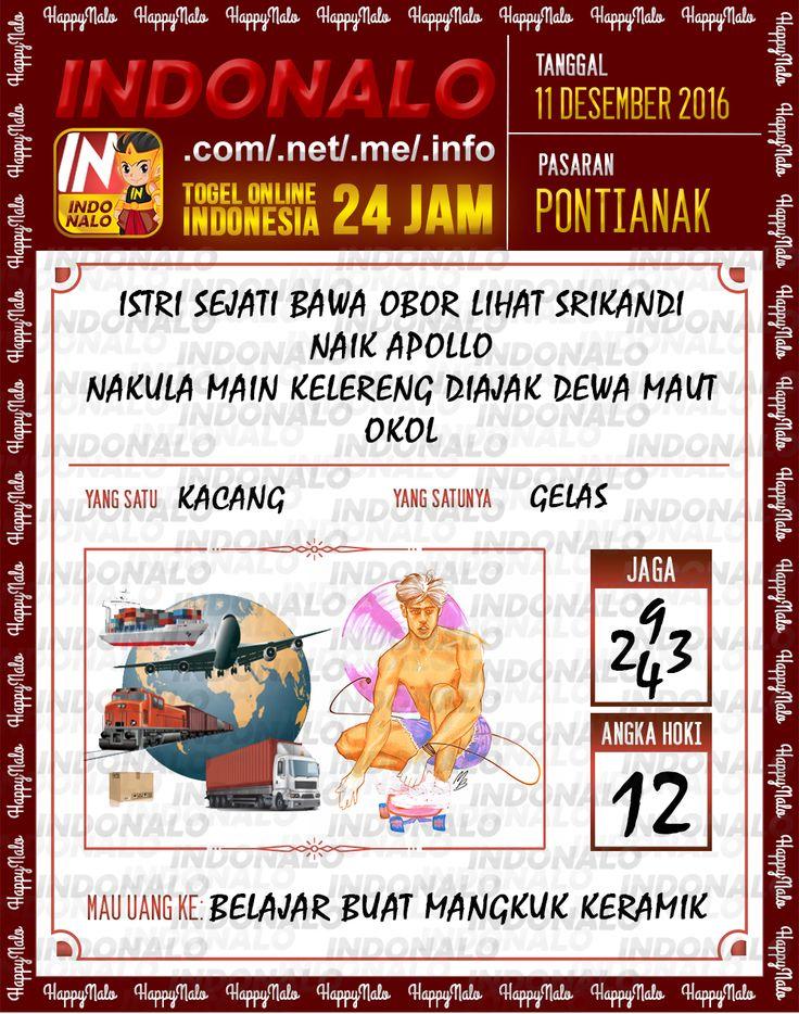 Lotre Kop 4D Togel Wap Online Live Draw 4D Indonalo Pontianak 11 Desember 2016