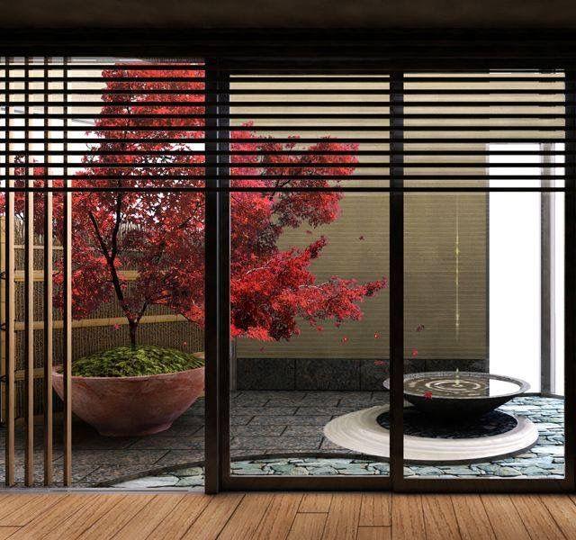 Внутренний японский садик