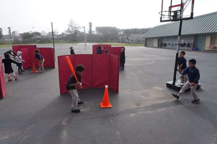Great idea for K-2 batting cages! @Robby_Fabry