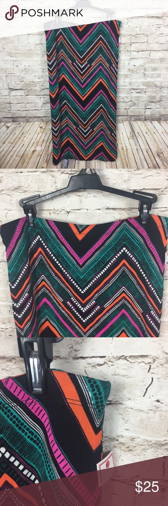 "Bisou Bisou chevron skirt Brand new chevron pencil skirt. Super cute for upcoming spring months. Perfect for casual wear or in the office.   Waist- Approx 16"" Length- Approx 31""  95% rayon 5% spandex Bisou Bisou Skirts Maxi"