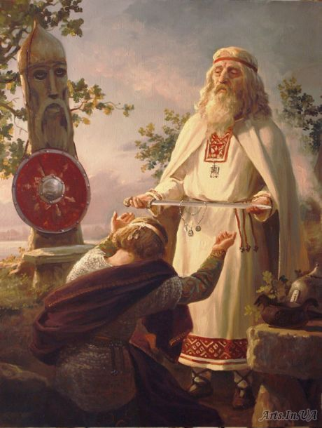 The blessing of the warrior by Andrey Shishkin(well-known artist, who was born in Moscow in 1960. Here he lives and works now. This Russian artist works in the style of realistic academic painting and creates paintings that delight in its splendor).