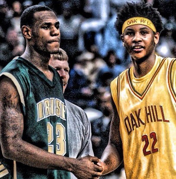 Lebron James and Carmelo Anthony (Oak Hill Academy)
