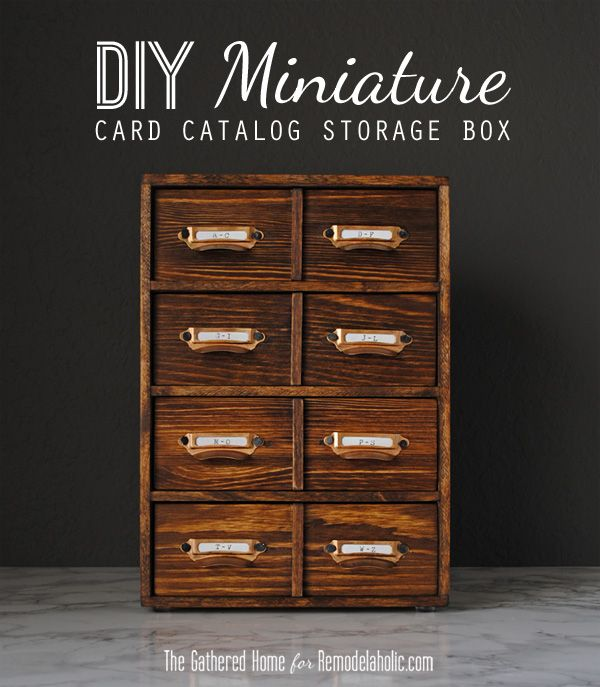 DIY Miniature Card Catalog Storage Box | The Gathered Home for Remodelaholic.com #tutorial #vintage: