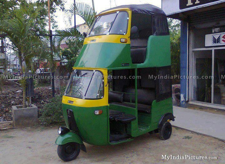 Modified Double Decker Auto Rickshaw Funny Unseen India