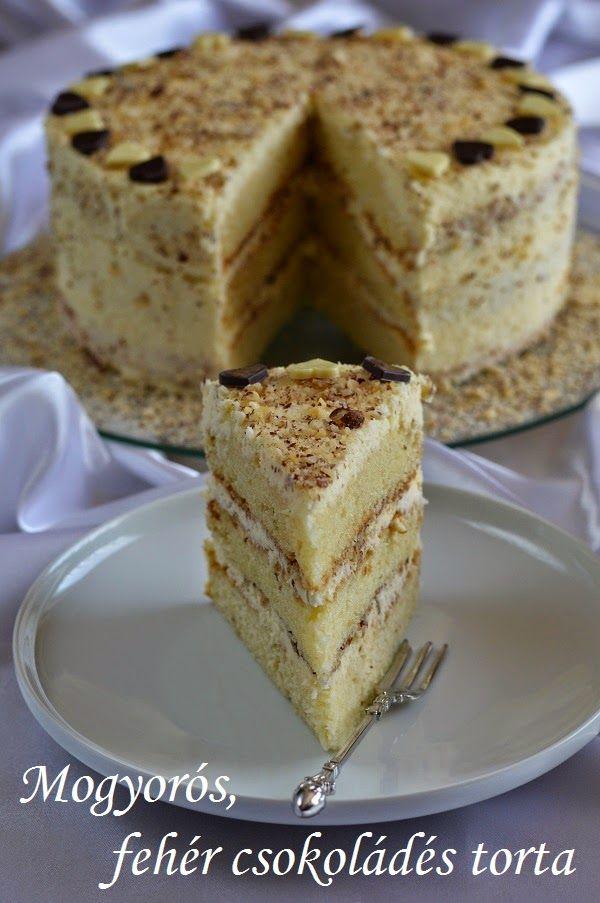 Hankka: Mogyorós, fehér csokoládés torta