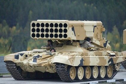 TOS-1A 'Buratino'. 220 mm multiple fuel-air rocket launcher.(Russia)