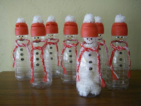 Snowman Bottles Ready To Fill 4  Gift Giving