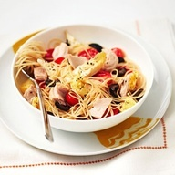 Mediterranean Pasta Salad With Tuna #recipe