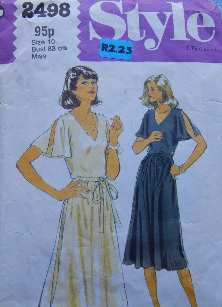 """1970s Vintage Sewing Pattern Style 2498 Bust 32,5"""" (83 cm) by chicpatternstudio on Etsy"""
