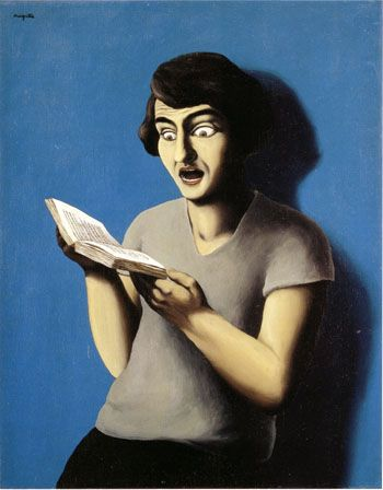 Rene Magritte The Subjugated Reader 1928