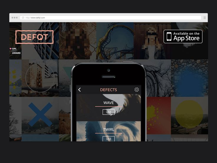 defqt iphone app [website] by Teodorik Mensl