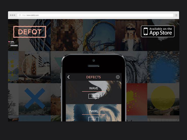 defqt iphone app [website] by Teodorik Mensl