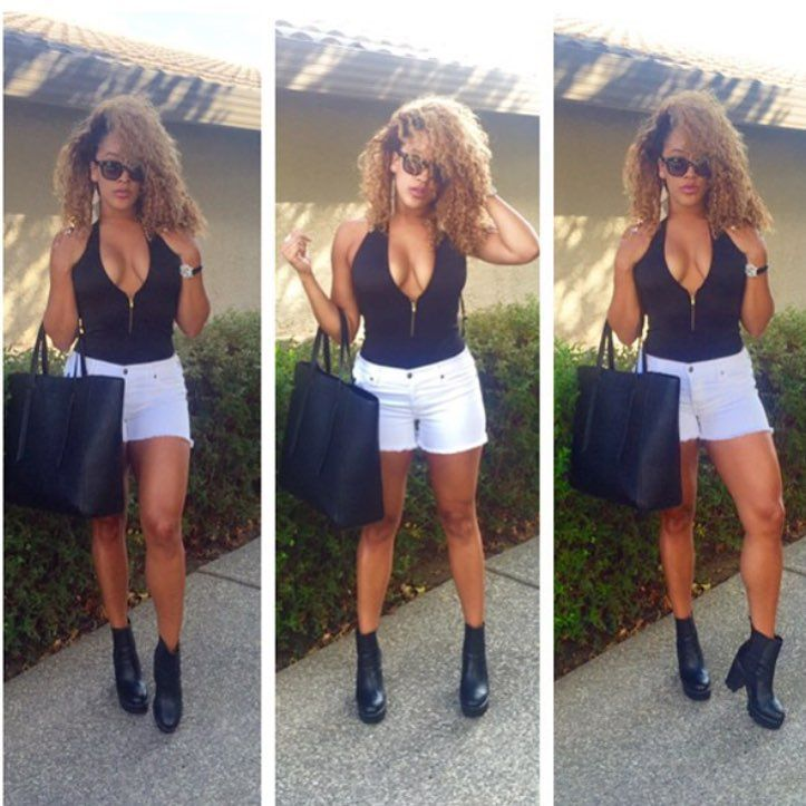 Bad Girl Alert Natalie Nunn looking fierce in our Lug Sole Ankle Booties Search: JONAS | CiCiHOT.COM