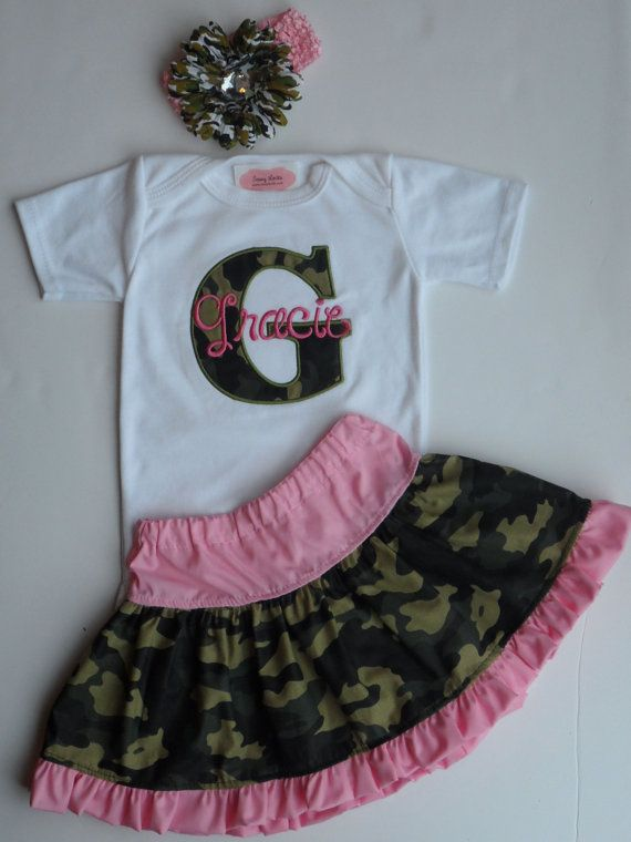87011d086 Personalized Baby Girl Clothes Pink Camo Baby Girl by sassylocks ...