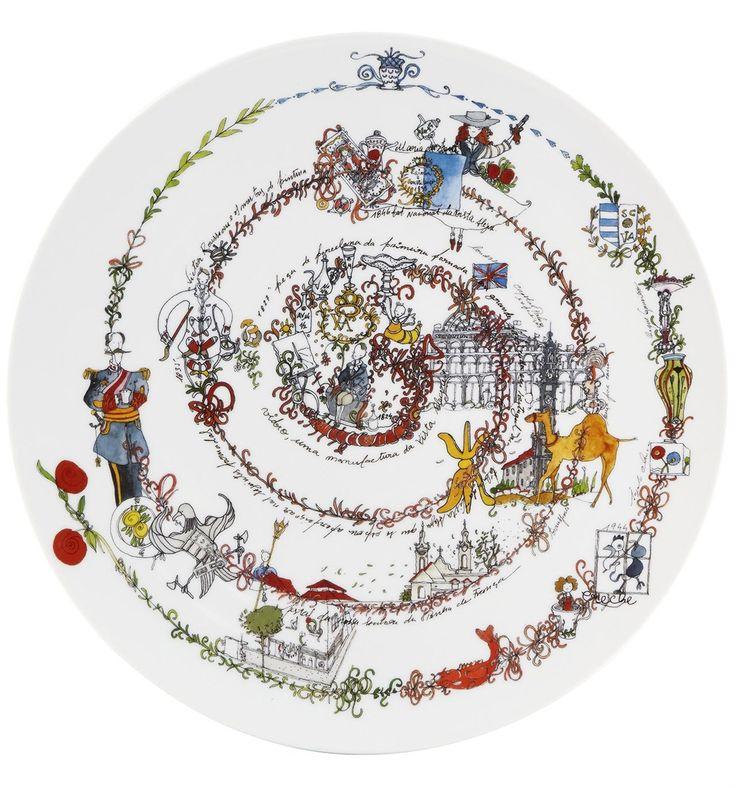 Vista Alegre 190 Plate The Chronology 33 Cm - HomeBello